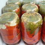 Половинки помидоров в заливке