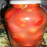 Солёные помидоры с  сухой горчицей