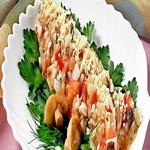 Грибной салат с сельдью
