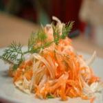 Салат из белокочанной капусты и моркови