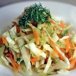 Салат из белокочанной капусты с редькой и морковью