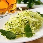 Салат из белокочанной капусты с уксусом