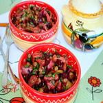 Салат из грибов со свеклой