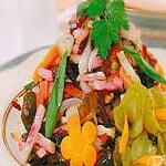 Салат из шампиньонов постный