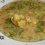 Суп — грибница с ячневой крупой