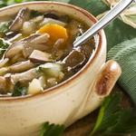 Суп из смеси свежих грибов