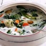 Суп молочный с цветной капустой