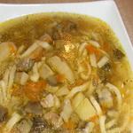 Суп – лапша со свежими грибами