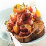 Фруктово-овощной салат с красным луком