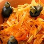 Капуста с маслинами, по-румынски