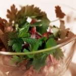 Овощной салат с гранатовым соком