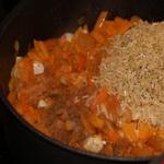Плов из коричневого риса, с тыквой