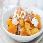 Салат из хурмы и мандаринов
