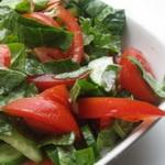Щавелевый салат с помидорами