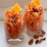 Морковно-яблочный салат с мёдом
