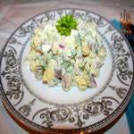 Острый салат из яиц