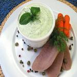 Соус для отварного мяса, с огурцами