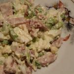 Мясной салат с горчичным майонезом