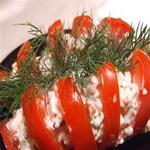 Салат из крабовых палочек с брынзой
