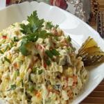 Салат из крабовых палочек с картофелем
