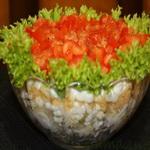 Салат из яиц с окороком