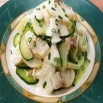 Салат из отварной рыбы с хреном и горчицей