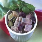 Салат из сельди горячего копчения, по-фламандски