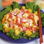 Салат из апельсинов с помидорами