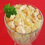 Салат из куриного филе с ананасами