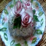Салат из творога с редисом