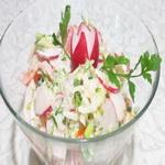 Салат из свежего редиса, по-вюрцбургски