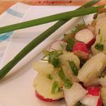 Салат с картофелем и редисом