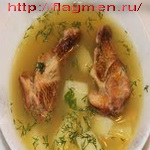 Суп с мягким сыром
