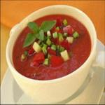 Томатный суп (холодный)