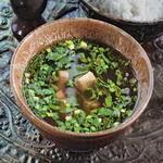 Суп хлебный с зеленью