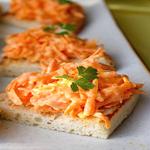 Бутерброды с морковной начинкой