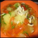 Грибной суп с кабачками