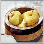 Яблоки, моченые в кадке
