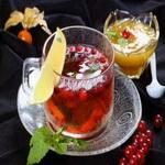 Клюквенный чай с мятой