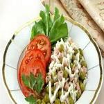 Рисовый салат с ветчиной