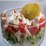 Салат —  коктейль с рыбой