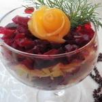 Салат – коктейль из печени