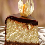 Творожный пирог с белым и черным шоколадом