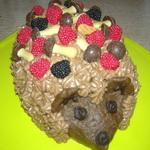 Тортик из печенья «Ёжик»