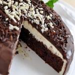 Торт сливочный с шоколадным кремом