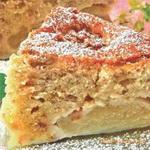 Яблочно-ореховый торт с начинкой