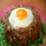Котлеты с печеным перепелиным яйцом