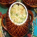 Картофель тушеный, со сметаной (в горшочке)