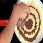 Блины «полосатые», с шоколадом