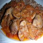 Острое блюдо из куриной печенки
